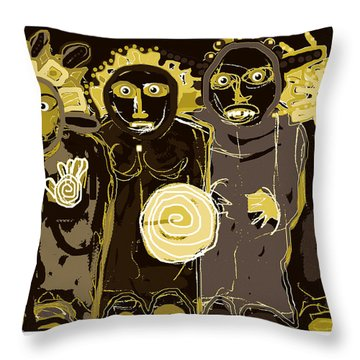 Ancients -duotone Throw Pillow