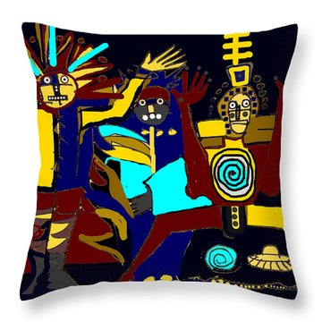 Ancients- Night Visit Throw Pillow