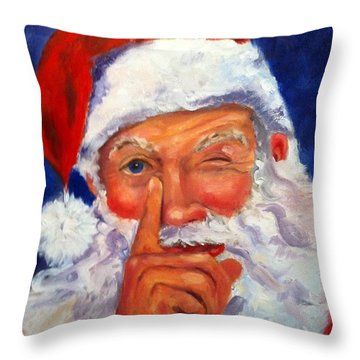 And Giving A Wink Throw Pillow by Carol Berning