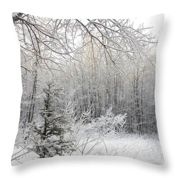 And More Snow Throw Pillow