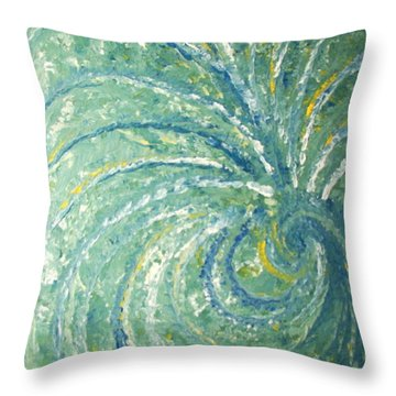 And The Peacock Danced Throw Pillow
