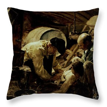 And They Still Say Fish Is Expensive Throw Pillow by Joaquin Sorolla y Bastida
