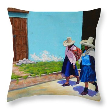 Andean Ladies Throw Pillow