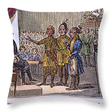 Andrew Jackson: Native Americans Throw Pillow by Granger