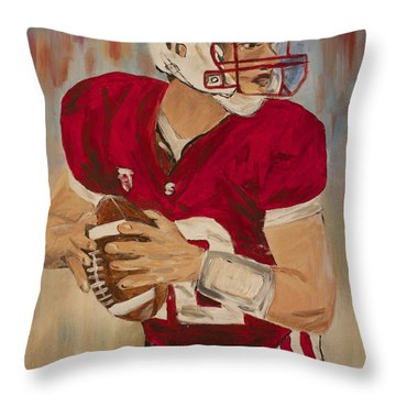 Andrew Luck Throw Pillow