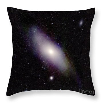 Andromeda Galaxy M31, Infrared Image Throw Pillow