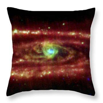 Andromeda Galaxy Throw Pillow by Nasa