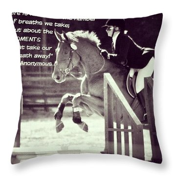 Andy And Chrissy Caber Farm Horse Throw Pillow