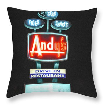 Andy's Drive-in Throw Pillow by Jost Houk