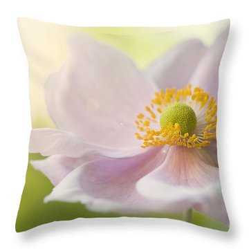 Anemone Haze Throw Pillow by Jacky Parker