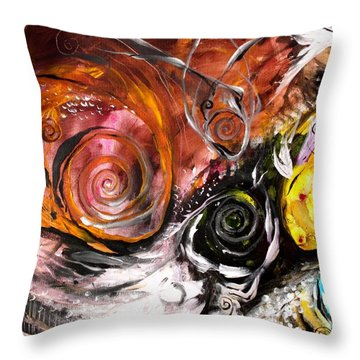 Anewed Antypityped Five Fish Throw Pillow