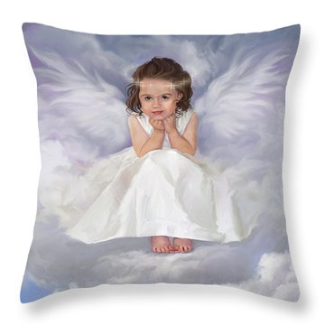 Angel 2 Throw Pillow by Rob Corsetti