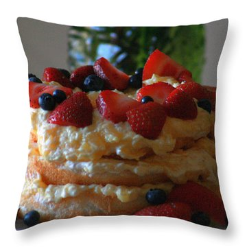 Throw Pillow featuring the photograph Angel Food by Kay Novy