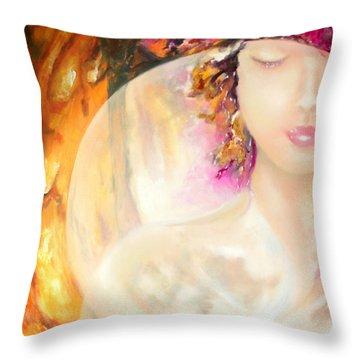 Angel Luna Throw Pillow