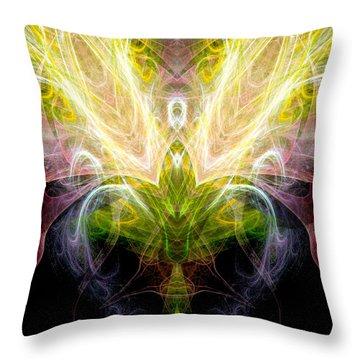 Angel Of Abundance Throw Pillow by Diana Haronis