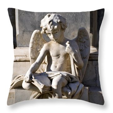 Angel Of Baroque Throw Pillow