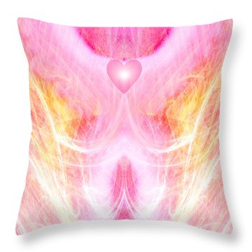 Angel Of Divine Love Throw Pillow