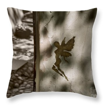 Angel Of Tallinn Throw Pillow