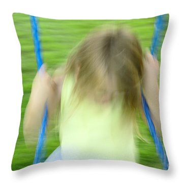Angel Swing Throw Pillow by Aimelle