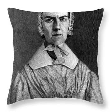 Angelina Grimk�, American Abolitionist Throw Pillow by Photo Researchers