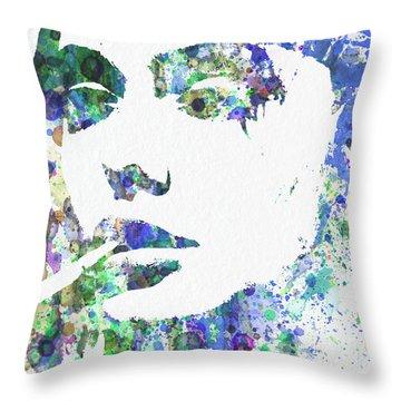 Angelina Jolie Throw Pillow by Naxart Studio