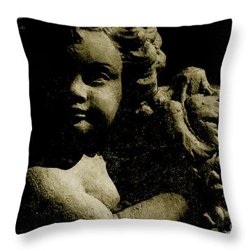 Angelina My Little Angel Throw Pillow by Susanne Van Hulst