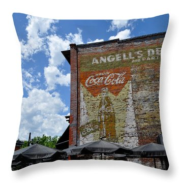 Angell's Deli Throw Pillow by Anjanette Douglas