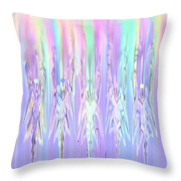 Angels Dancing Throw Pillow by Kelly Turner
