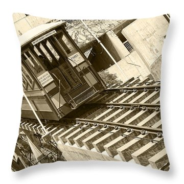 Angels Flight Throw Pillow