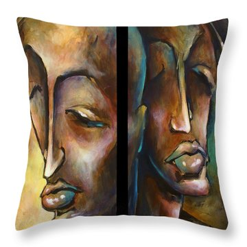'angels Of Deception' Throw Pillow by Michael Lang