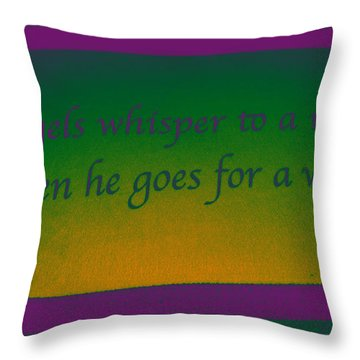 Angels Whisper Throw Pillow by Todd Breitling