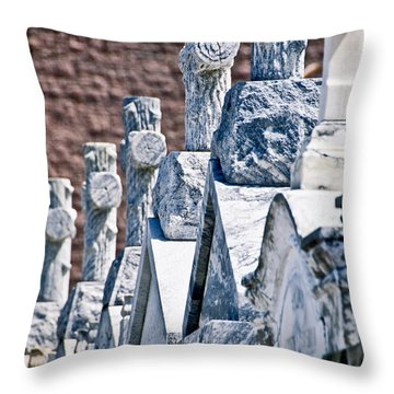 Angled Heahstones Throw Pillow by Ray Laskowitz