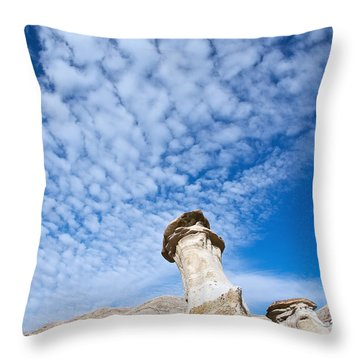 Angled Hoodoo And Clouds Throw Pillow