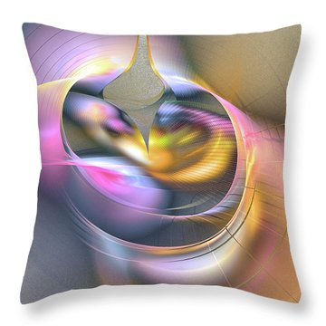 Anima Felix - Abstract Art Throw Pillow