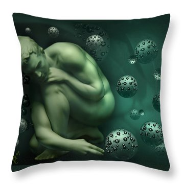 Animus Breathing Viriditas Throw Pillow