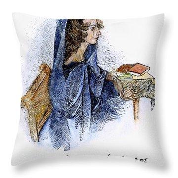 Ann Bronte (1820-1849) Throw Pillow by Granger