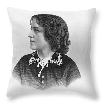 Anna Elizabeth Dickinson Throw Pillow by Granger