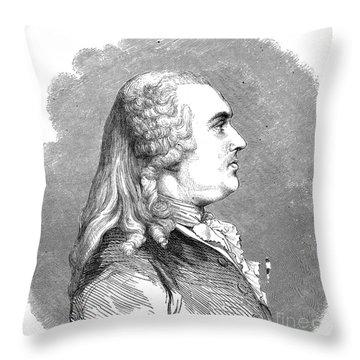 Anne Robert Turgot Throw Pillow by Granger