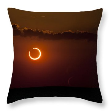 Annular Solar Eclipse Throw Pillow by Phillip Jones