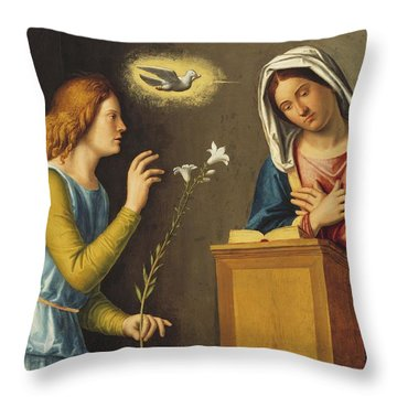 Annunciation To The Virgin Throw Pillow