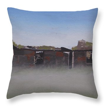 Another Abandoned Croft Throw Pillow by Eric Burgess-Ray
