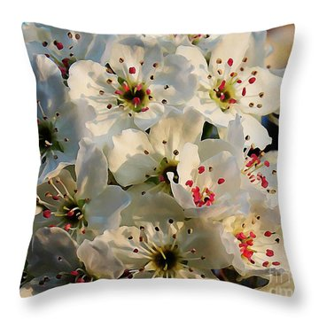 Throw Pillow featuring the painting Another  Year by Steven Lebron Langston