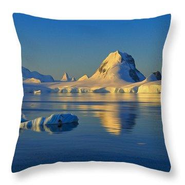 Antarctic Dusk Throw Pillow by Tony Beck