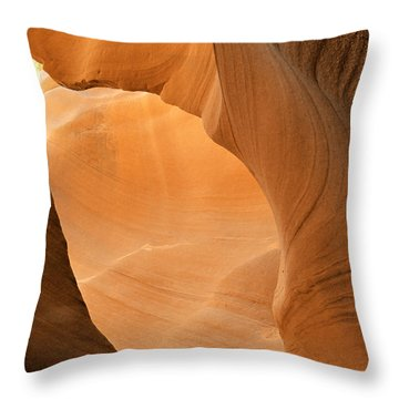 Antelope Canyon - Another World Throw Pillow by Christine Till