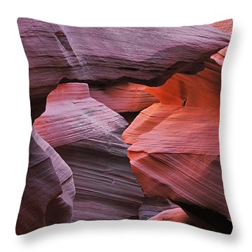 Antelope Canyon - Canvas For Nature's Compositions Throw Pillow by Christine Till