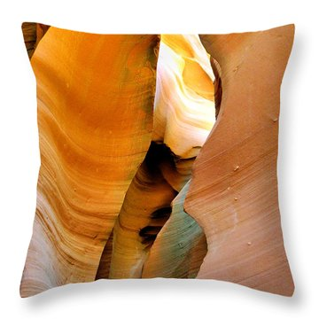 Antelope Canyon - Nature's Extravaganza Throw Pillow by Christine Till