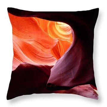 Antelope Canyon Portal Throw Pillow
