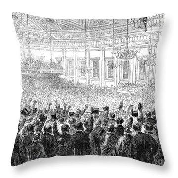 Anti-slavery Meeting, 1863 Throw Pillow by Granger
