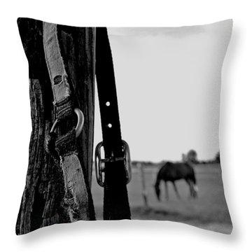Anticipating Throw Pillow by Karen Harrison
