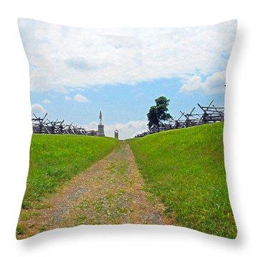 Antietam Battle Of Bloody Lane Throw Pillow by Cindy Manero